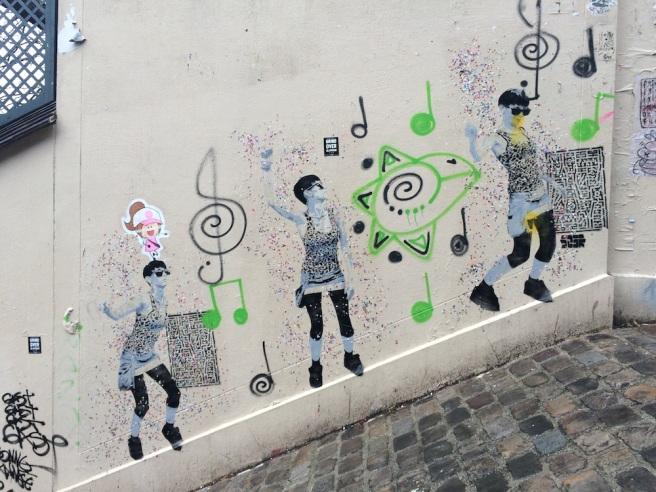 street art on the steps