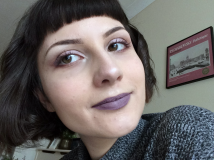 purple lipstick alternative beauty look